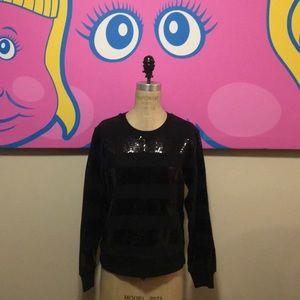 Paige Black Sweatshirt With Sequins